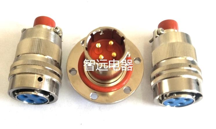 4芯35A穿墙式真空密封插件